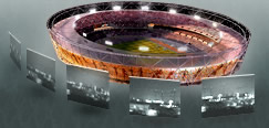 Live Fish Eye Webcam on London 2012 Olympic Stadium